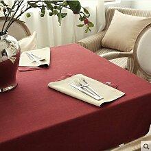 X&L Amerikanische Einfache Leinentischdecke Tischdecke Couchtisch Tuch für das Familientreffen und Restaurant Hotel , 140*250cm