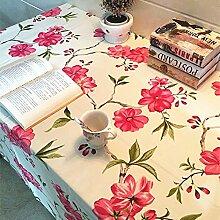 X&L Amerikanische Landschaft Baumwollsegeltuch Tischtuch Tetabellentuch TableCloth Multituchtuch für Heim Restaurant Hotel-Party , 140*140cm