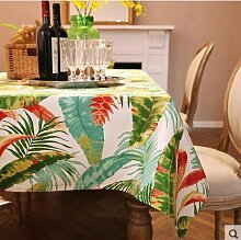 X&L Amerikanische Landschaft Tropische Pflanze Baumwolle Leinwand Tischdecke Tetabellentuch TableCloth für Home-Party Restaurant Hotel , a , 90*140cm
