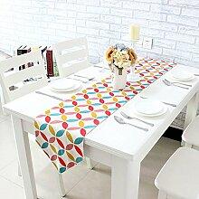 X&L Baumwolle verdicken Farbe Europäische Tischfahne Tisch Couchtisch Tisch-Pad für Home Hotel Restaurant Party , cm 30*160
