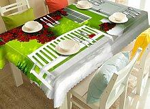 X&L Blume Rattan Wand Druck 3D Digital Tischdecke Pad Umwelt geschmacklos für Dinnerparty Hotel , 215*215