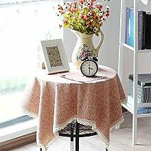 X&L Café Tischdecke Bar Blumenarthintergründe rechteckigen Tischdecke für die Party-Hotel zu Hause Picknick Bankett , red , 90*90cm