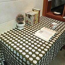 X&L Druck Baumwolle Leinen Tischdecke Tischdecke Couchtisch Tuch Mehrzwecktuch für zu Hause Party Restaurant Hotel , 90*140cm