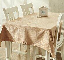 X&L Einfarbig einfache moderne verdicken Tischdecke Tischdecke Couchtisch Tuch Tischdecke für zu Hause Versammlungen Restaurant Hotel , 137*200cm , golden