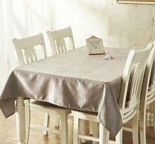 X&L Einfarbig einfache moderne verdicken Tischdecke Tischdecke Couchtisch Tuch Tischdecke für zu Hause Versammlungen Restaurant Hotel , 137*200cm , silver