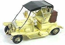 X&L Eisen-Auto-Modell Geschenke Home Decor Bar Dekorative Metall-Handwerk (16 * 6.5 * 9cm) , beige