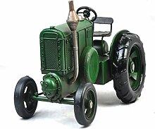 X&L Eisen-Fertigkeiten Retro Traktor Modell Metal Crafts / Fotografie Props Haushalt Geschenke Bar Dekoration Collection (23 * 15 * 15cm) , green , 23*15*15cm