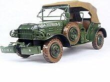X&L Eisen Military Auto Model Collection Geschenke Handwerk Heim Bar dekorative Fotografie Props (40 * 17 * 19cm)