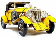 X&L Eisen Retro-Auto-Modell Fotografie Requisiten Heimtextilien Café-Bar Dekoration (33 * 14 * 12 cm) , yellow , cm 33*14*12