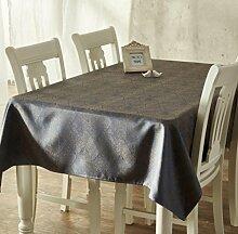 X&L Europäische klassische Heimtextilien Hochzeit Tetabellentuch Tischdecke für zu Hause Versammlungen Restaurant Hotel , 137*220cm , blue