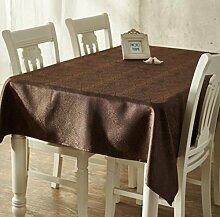 X&L Europäische klassische Heimtextilien Hochzeit Tetabellentuch Tischdecke für zu Hause Versammlungen Restaurant Hotel , 137*220cm , chocolate color