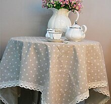 X&L Europäische Leinen Staub Tischdecke Tetabellentuch Tischdecke für zu Hause Party Restaurant Hotel , a , 140*180cm