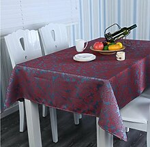 X&L Europäische Tisch Tee Tischdecke für zu Hause Party Restaurant Restaurant , 137*220cm , red