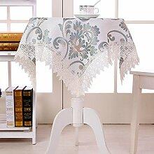 X&L Europäische Tischtuch Spitze Staubtuch Couchtisch Tuch Mehrzweckdeckstoff für Zuhause Hotelrestaurant Party , 150*150