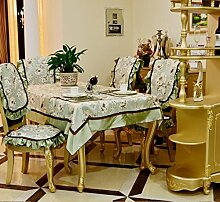 X&L European - Style ländliche frische Haushalt Tabelle Tuch Tisch Handtuch dekoriert Jin Di Polyester Baumwolle Jacquard Seide drei - Kantenfarbe , green , 150*210