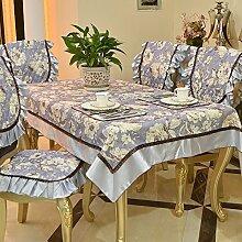 X&L European - Style ländliche frische Haushalt Tabelle Tuch Tisch Handtuch dekoriert Jin Di Polyester Baumwolle Jacquard Seide drei - Kantenfarbe , purple , 130*180