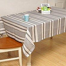 X&L Gestreifte Tischdecke Tetabellentuch moderne einfache Tischdecke Tischdecke für ein Picknick bei Parteiversammlungen , 140*220