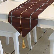 X&L Gitterbaumwolltischfahne rechteckigen Tisch Flagge Dreieck Tischtuch Tischfahne anwendbar Party-Hotel zu Hause Picknick Bankett , 30*220cm