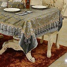 X&L Hoch - Ende europäischen Continental-Polyester Goldfolie europäischer Tisch Tuch Tischdecke , gray , 140*180