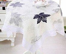 X&L Hochwertige Baumwolle Staubtuch Tischdecke Couchtisch Tuch Mehrzweckdeckstoff für Zuhause Hotelrestaurant Party , black , 130*130