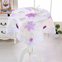 X&L Hochwertige Baumwolle Staubtuch Tischdecke Couchtisch Tuch Mehrzweckdeckstoff für Zuhause Hotelrestaurant Party , purple , 110*160