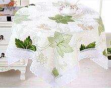 X&L Hochwertige Baumwolle Staubtuch Tischdecke Couchtisch Tuch Mehrzweckdeckstoff für Zuhause Hotelrestaurant Party , green , 150*200