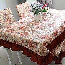 X&L Hochwertige europäischen Stil neue Tischdecke für zu Hause Party Restaurant Hotel , red , 130*180