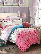 X&L ich liebe meine Heimat 100% Baumwoll-Twill Streifenmuster Bettbezug für Queen-Size-Bett gesetzt , queen