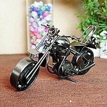 X&L Ideen Geschenke Haushalt Dekoration Eisen Motorräder Modelle Ausstattung , black , 20*8*11
