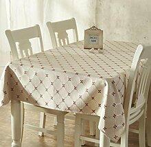 X&L Im europäischen Stil Tuch Tischdecke Tischdecke für zu Hause Party Restaurant Restaurant , 137*220cm , coffee