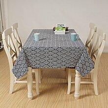 X&L Japanische Aroma Tuch-Tischdecke Dekorative Restaurant Stoff Wohnzimmer Tetabellentuch Tischdecke für Partei-Haushalt Bankett Picknick , 140x200cm