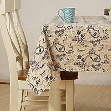 X&L Japanische Baumwolle und Leinen Tischdecke Dekoration Restaurant Stoff Wohnzimmer Tisch Tuch Tuch Tischdecke für Party Haushalt Bankett Picknick , 140x200cm