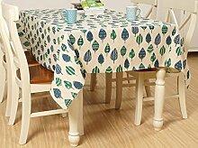 X&L Japanische geometrische Wald Baumwoll-Leinen-Tischdecke Dekoration Restaurant Stoff Wohnzimmer Tisch Tuch abdecken Tuch Tischdecke für Party Haushalt Bankett Picknick , 90*90cm