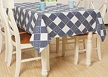 X&L Japanischen Quadrat Leinentischdecke Dekoration Restaurant Stoff Wohnzimmer Tisch Tuch abdecken Tuch Tischdecke für Party Haushalt Bankett Picknick , 90*90cm