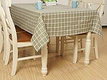 X&L Japanischer Garten Plaid Baumwolle und Leinen Dekoration Restaurant Stoff Wohnzimmer Tisch Tuch abdecken Tuch Tischdecke für Party Haushalt Bankett Picknick , green , 140x220cm