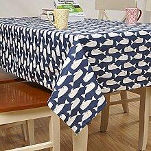 X&L Korean Baumwollleinentischdecke Tischtuch Tetabellentuch einfache Tischdecke für die Party zu Hause Picknick Bankett , 140*220