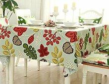 X&L Korean Pastoral Green Cotton Tischdecke Tetabellentuch Multituch für Zuhause-Party-Restaurant , 140*210cm