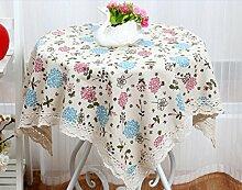 X&L Kreative Gitter Tischdecke Staubtuch Couchtisch Tuch Mehrzweckdeckstoff für Zuhause Hotelrestaurant Party , blue , 130*180
