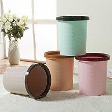 X&L Kreative Haushalt Müll Toilette ohne Deckel Kunststoff Küche / Wohnzimmer / Schlafzimmer / Bad / Mülleimer 10L , 1