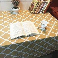 X&L Leinentischdecke Couchtisch Tuch Mehrzwecktuch für Haus Restaurant Hotel Party , 60*60cm