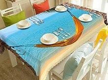 X&L Meer Hängematte digitale 3D-digitale wasserdichte Tischtuch Pad Umwelt geschmacklos Staubtuch für Hotel Bankett , 150*230
