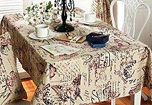 X&L Mode Nostalgie britischen Schmetterlings-Tischdecke Matten Nachtschränkchen Kühlschrank Abdeckung Handtuch für Party-Hotel zu Hause Picknick Bankett , 140*140