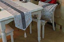 X&L Mode samt Tisch Läufer Läufer Tabelle liefert kleine Bohrungen Tischläufer , white , 32*180