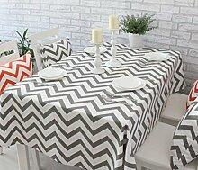 X&L Mode Wellenmuster Nordic Baumwolle geometrischen Mustern Tisch Tischtuch Tetabellentuch Tischtuch für Haus Hotel , gray , cm 60*60
