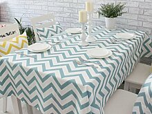 X&L Mode Wellenmuster Nordic Baumwolle geometrischen Mustern Tisch Tischtuch Tetabellentuch Tischtuch für Haus Hotel , blue green , cm 60*60