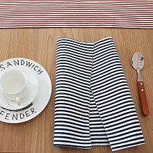 X&L Moderne Kompakt Moderne gestreifte Tisch Banner Lange Bett Schwanz Tee-Tabelle Flagge Platzdeckchen für Home-Party Restaurant Hotel , gray , 30*200