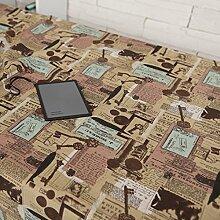 X&L Muster Tischdecke Couchtisch Tuch Mehrzweckdeckstoff für zu Hause Restaurant Hotel Party , 140*220cm