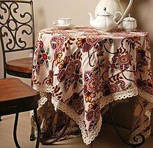 X&L Neoklassischen pastoral Spitzetischdecke Kaffeetischtuch Tischdecke für zu Hause Party Restaurant , 90*140cm