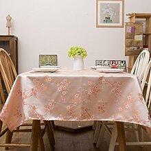X&L New Cloth Kleine frische Tischdecke Couchtisch Tisch Runder Tisch für Restaurant Hotel Haushalts Versammlungen , 90*137cm , pink