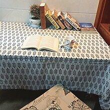 X&L Pastoral Baumwolle Blatt Blatt Decke Tischdecke Kaffeetischtuch Kühlschrank-Abdeckungen für Zuhause-Party Restaurant Hotel , 140*220cm